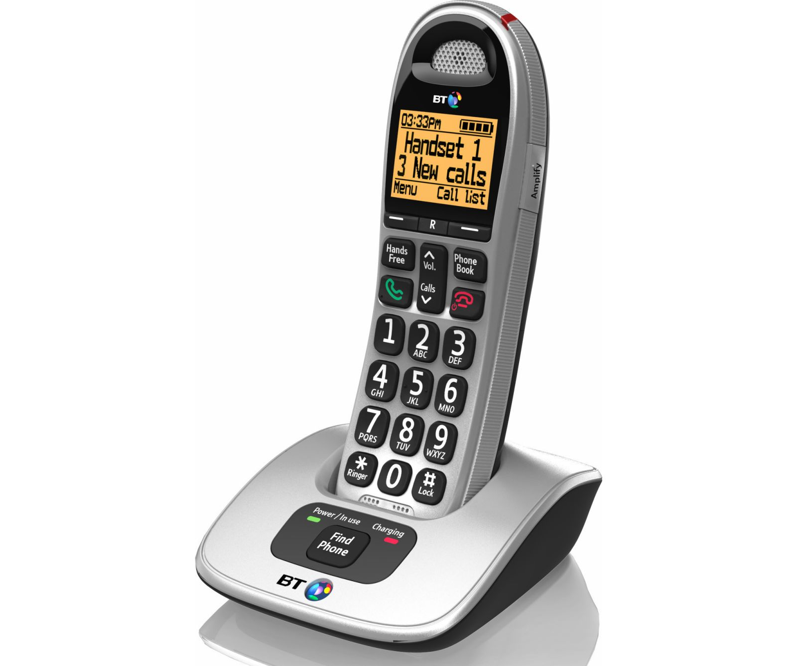 Image of BT 4000 Big Button Cordless Phone, Single Handset