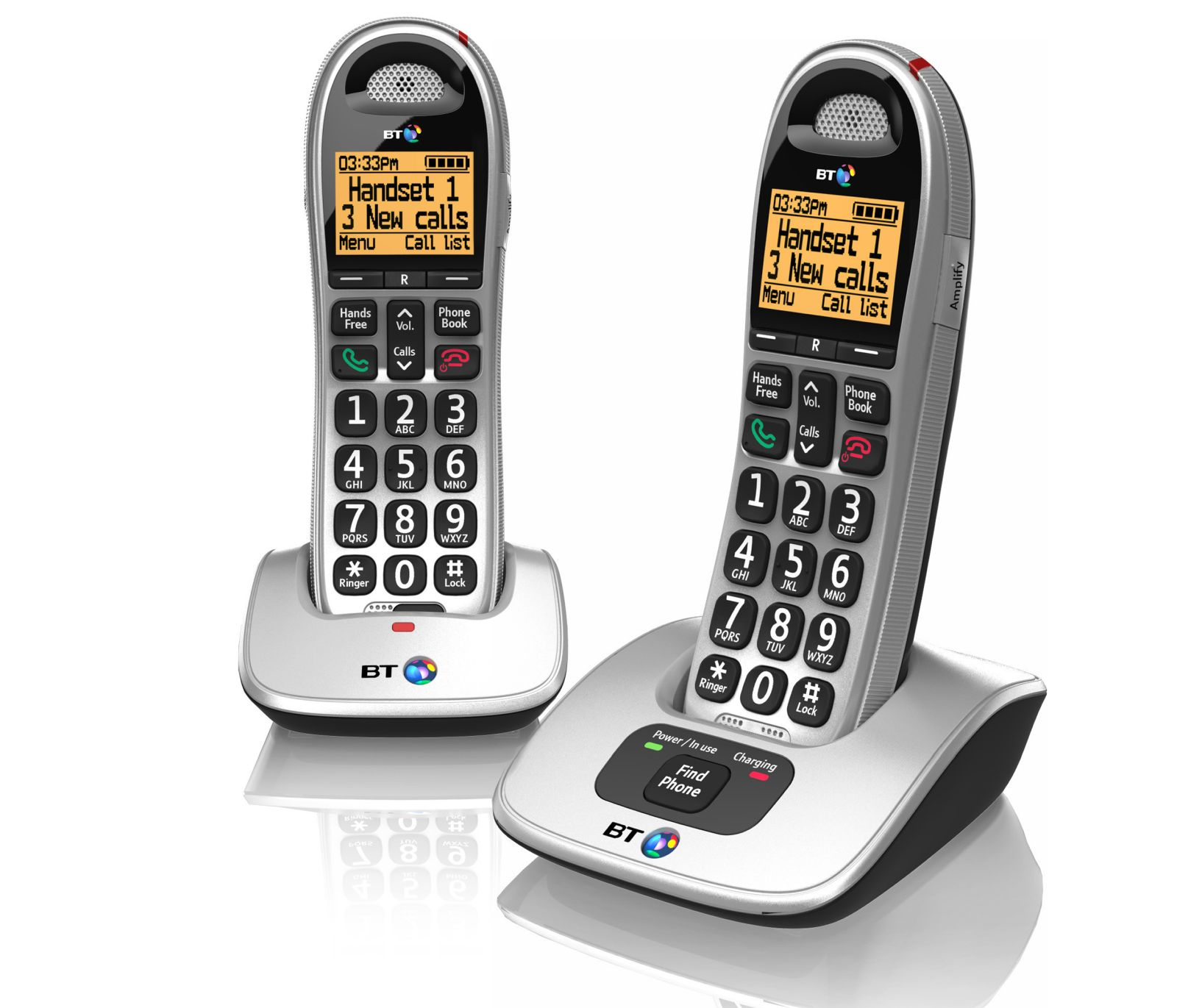 Image of BT 4000 Big Button Cordless Phone, Twin Handset