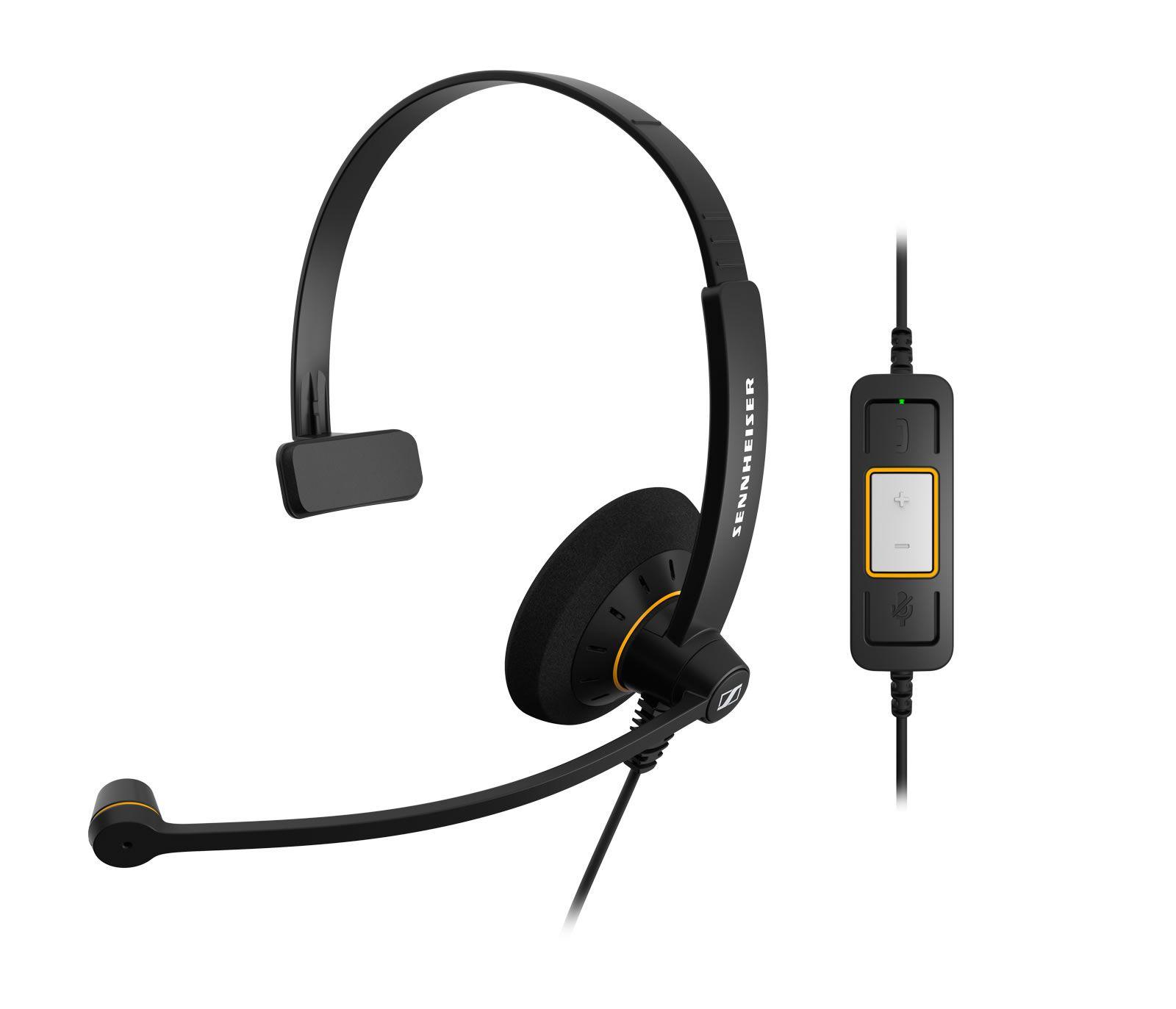 Image of Sennheiser SC 30 USB ML Mono Corded Headset for PC