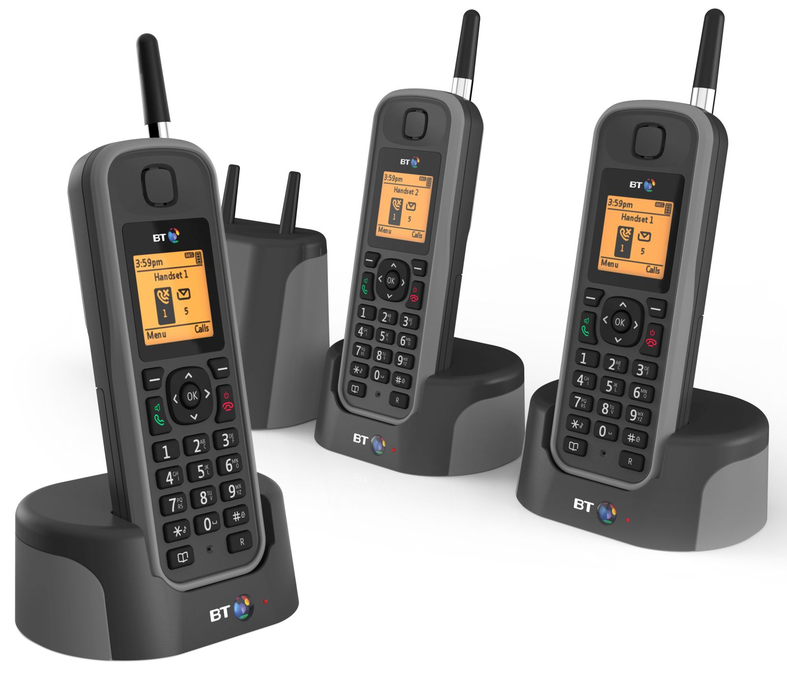Image of BT Elements 1K Trio Long Range Cordless Telephone