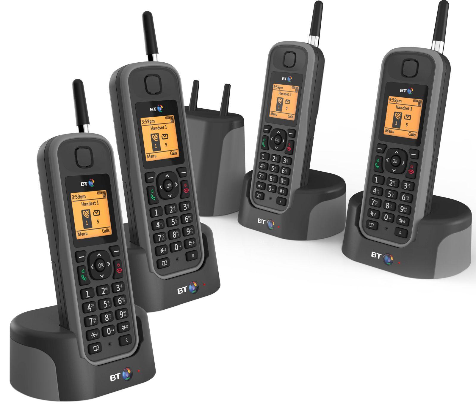 Image of BT Elements 1K Quad Long Range Cordless Telephone