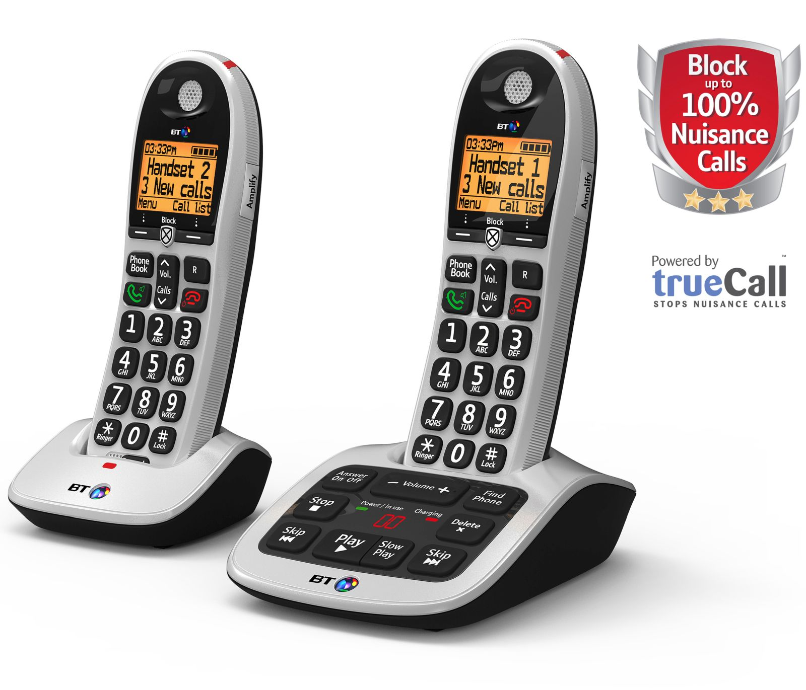 Image of BT 4600 Cordless Phone, Twin Handset with Big Buttons