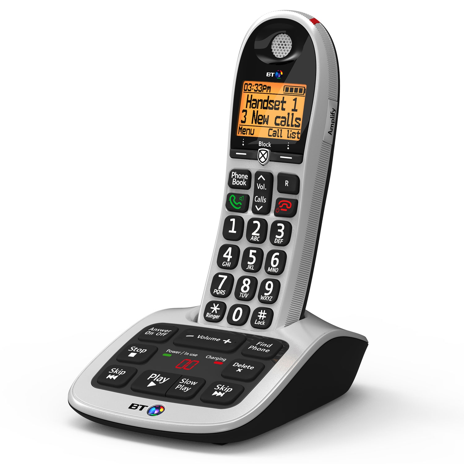 Image of BT 4600 Cordless Phone, Single Handset with Big Buttons