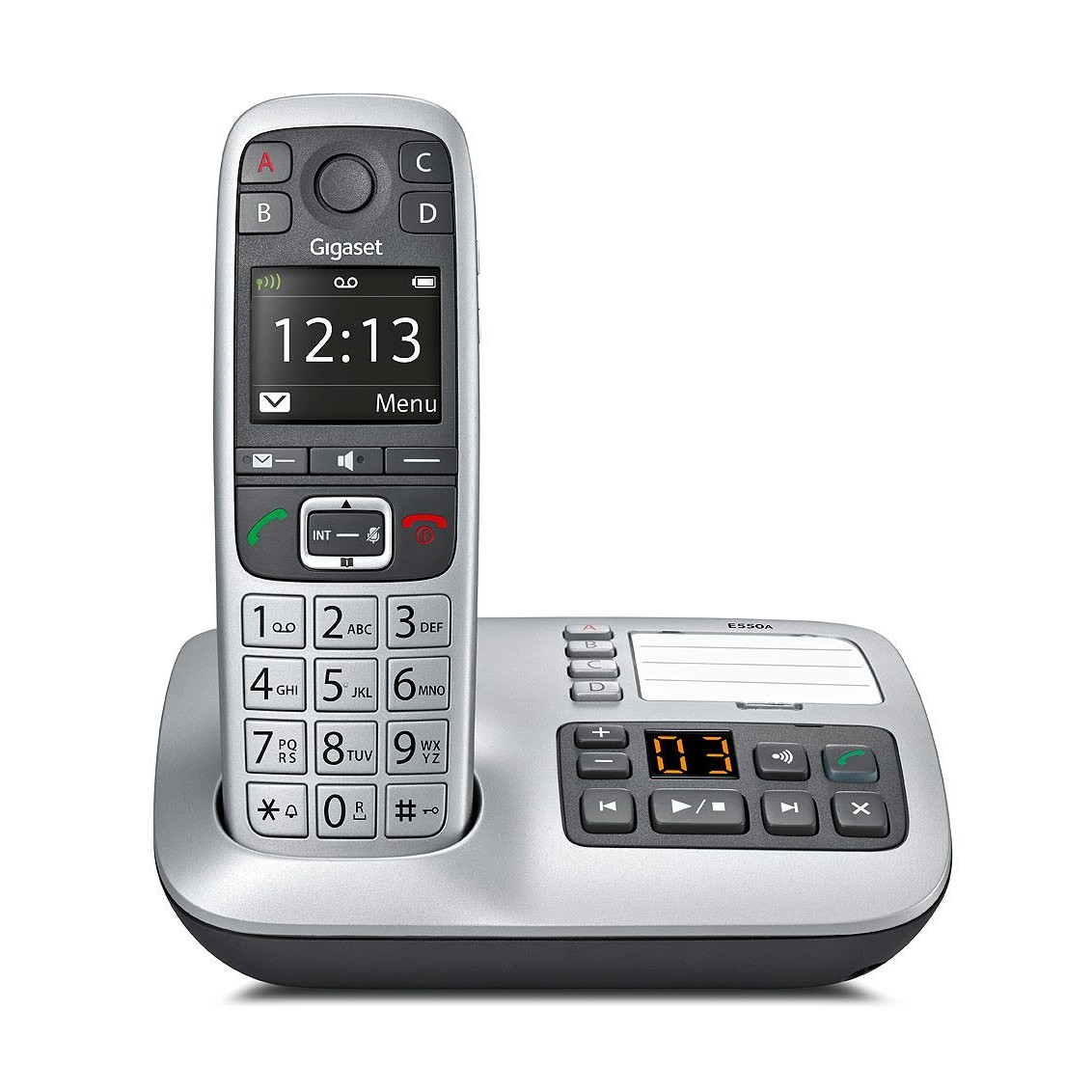 siemens gigaset e550a big button cordless telephone ligo. Black Bedroom Furniture Sets. Home Design Ideas