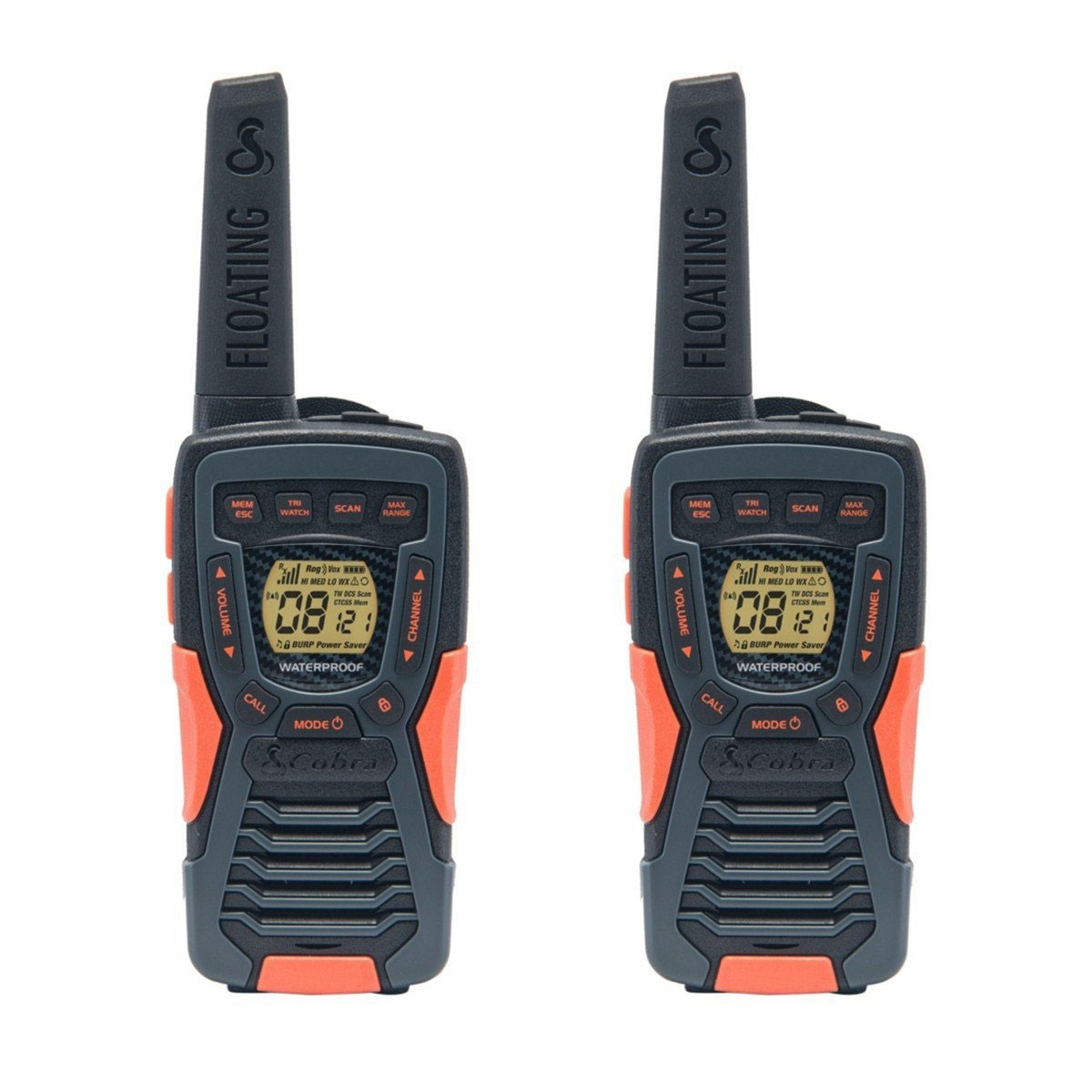 cobra am1035 12km walkie talkies twin pack ligo. Black Bedroom Furniture Sets. Home Design Ideas