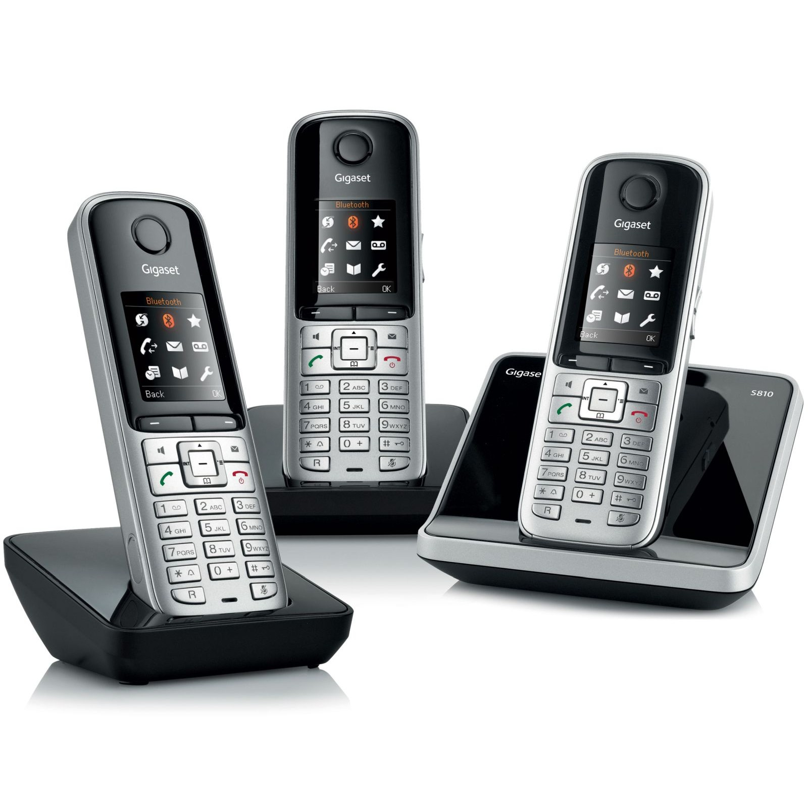 siemens gigaset s810 trio cordless phone without answer machine ligo. Black Bedroom Furniture Sets. Home Design Ideas