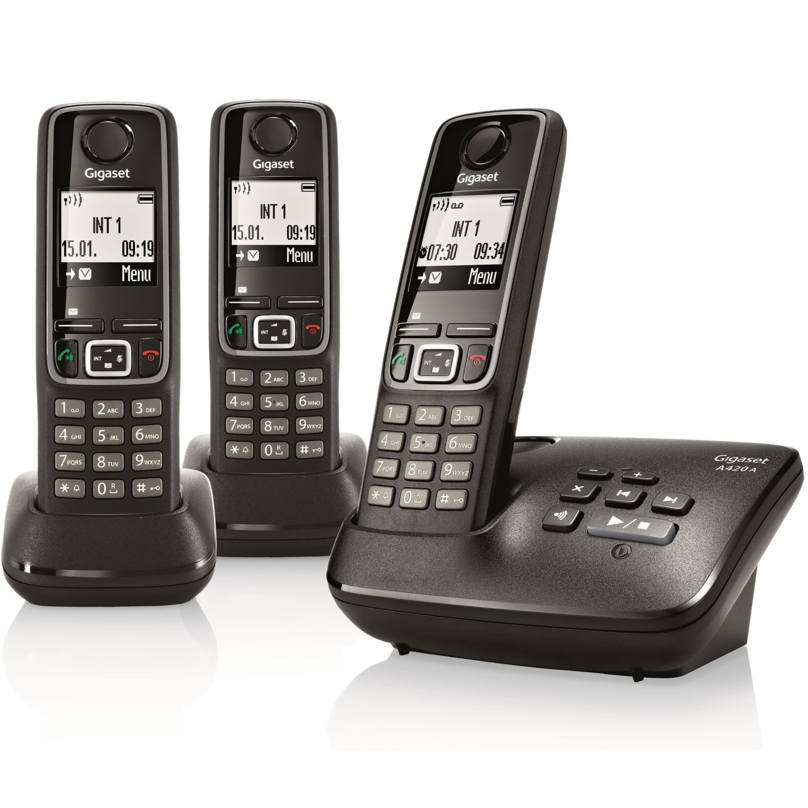 siemens gigaset a420a trio dect cordless phones order online ligo. Black Bedroom Furniture Sets. Home Design Ideas