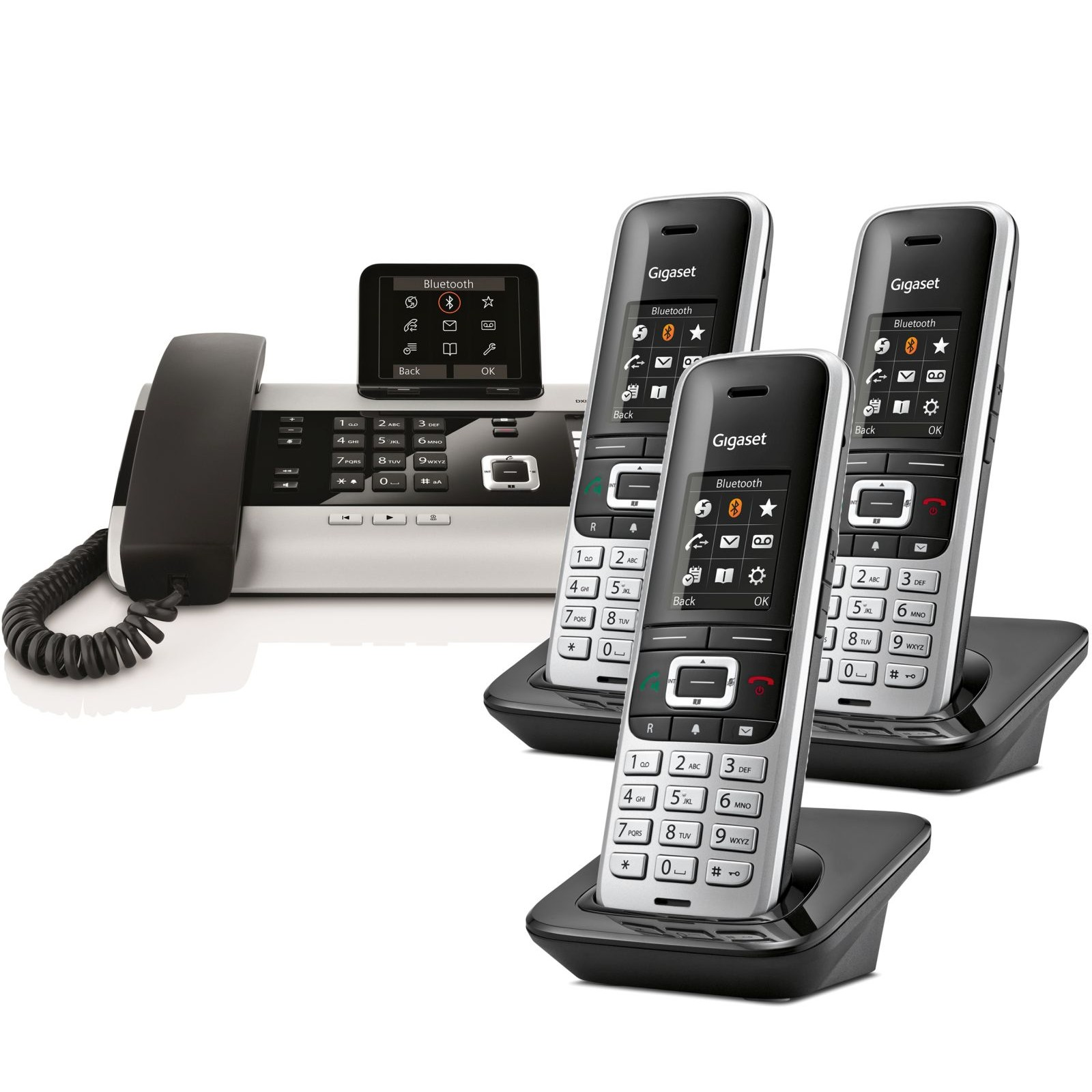 gigaset dx800a quad multi line business phone ligo. Black Bedroom Furniture Sets. Home Design Ideas