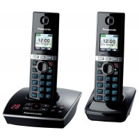 Panasonic KX-TG 8062 Cordless Phone, Twin Handset with Answer Machine - 1