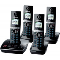 Panasonic KX-TG 8064 Cordless Phone, Quad Handset with Answer Machine - 1