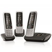 Siemens Gigaset C430A Cordless Phone, Trio Handset with Answer Machine - 1