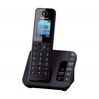 Panasonic KX-TGH220 Cordless Phone, Single Handset with Answer Machine