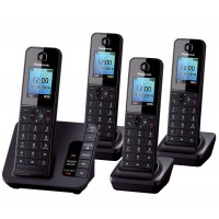 Panasonic KX-TGH224 Cordless Phone, Quad Handset with Answer Machine