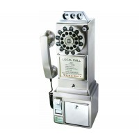Wild & Wolf 1950s Chrome American Diner Phone