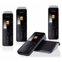 Panasonic KX-PRW 120 Premium Cordless Phone, Quad Handset with Answer Machine - 1