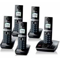 Panasonic KX-TG 8065 Cordless Phone, Five Handsets with Answer Machine - 1