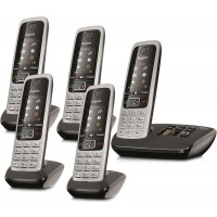 Siemens Gigaset C430A Cordless Phone, Five Handsets with Answer Machine - 1
