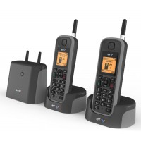 BT Elements 1K Twin Long Range Cordless Telephone - 1