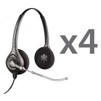 Plantronics HW261 Quad Stereo Corded Headsets