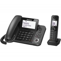 Panasonic KX-TGF320E Corded & Cordless Phone with Answer Machine - 1