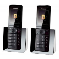 Panasonic KX-PRS120EW Cordless Phone, Twin Handset with Answer Machine - 1
