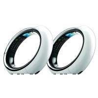 iDECT Eclipse Plus Twin Designer Phone with Call Blocking (White)