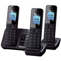 Panasonic KX-TGH263 Cordless Phone, Trio Handset with Link2Mobile - 1