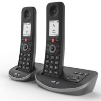 BT Advanced Cordless Phone with Answer Machine, Twin Handset