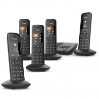 Siemens Gigaset Premium C570A Cordless Phone, Five Handsets with Answer Machine