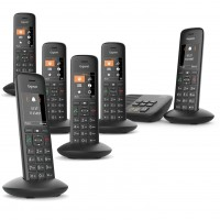 Siemens Gigaset Premium C570A Cordless Phone, Six Handsets with Answer Machine