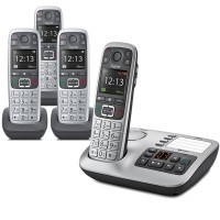 Gigaset E560A Cordless Phone, Quad Handset with Big Buttons