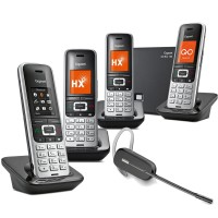 Siemens Gigaset S850A GO Quad VoIP Cordless Phone with Wireless Headset