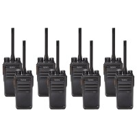 Hytera PD505LF Eight Pack License-Free Two-Way Radios
