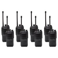 Hytera TC446S Eight Pack License-Free Two Way Radios