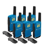 Motorola TALKABOUT T42 Six Pack Two-Way Radios in Blue