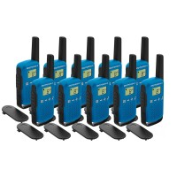 Motorola TALKABOUT T42 Ten Pack Two-Way Radios in Blue