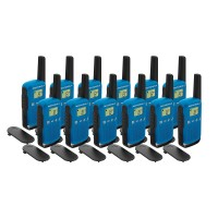 Motorola TALKABOUT T42 Twelve Pack Two-Way Radios in Blue
