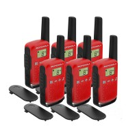 Motorola TALKABOUT T42 Six Pack Two-Way Radios in Red