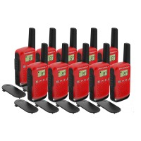Motorola TALKABOUT T42 Ten Pack Two-Way Radios in Red