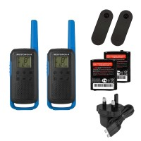 Motorola TALKABOUT T62 Twin Pack Two Way Radios in Blue