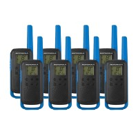 Motorola TALKABOUT T62 Eight Pack Two Way Radios in Blue