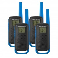 Motorola TALKABOUT T62 Quad Pack Two Way Radios in Blue