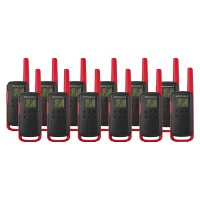 Motorola TALKABOUT T62 Twelve Pack Two Way Radios in Red