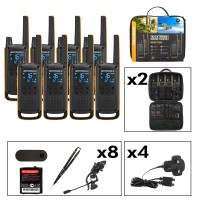 Motorola TALKABOUT T82 Extreme Eight Pack Two-Way Radios