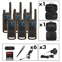 Motorola TALKABOUT T82 Extreme Six Pack Two-Way Radios