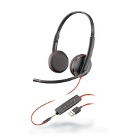 Plantronics Blackwire 3225 USB-A Stereo UC Corded Headset with 3.5mm Connection
