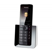 Panasonic KX-PRS120EW Cordless Phone, Single Handset with Answer Machine - 1