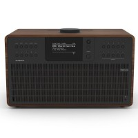 Revo SuperCD DAB, FM & Internet Radio All-In-One Music System with Wi-Fi, Bluetooth & Spotify Connect in Walnut/Black