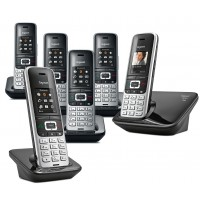 Siemens Gigaset Premium S850A Cordless Phone, Six Handsets with Answer Machine