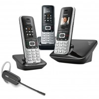 Siemens Gigaset S850A Trio with Wireless Headset
